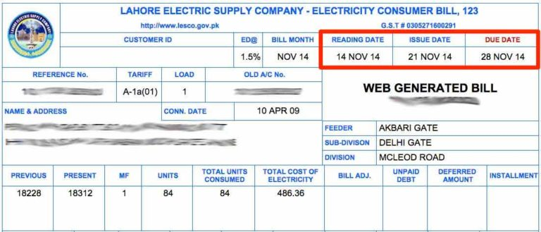 How To Understand your Electric Bill – Shahid Electric Company